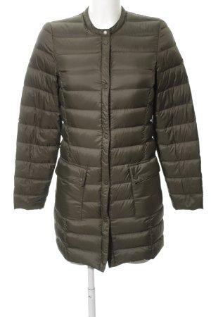 H&M Pikowany płaszcz khaki Pikowany wzór W stylu casual