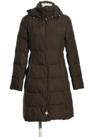 H&M Pikowany płaszcz brązowy Pikowany wzór W stylu casual