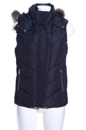 H&M Gilet matelassé bleu motif de courtepointe style décontracté