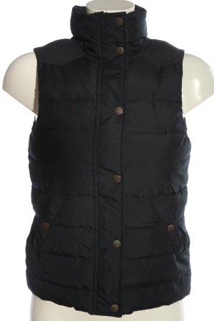 H&M Gilet matelassé noir motif de courtepointe style décontracté
