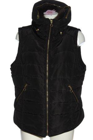 H&M Pikowana kamizelka czarny Pikowany wzór Elegancki