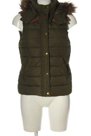 H&M Steppweste khaki Steppmuster Casual-Look