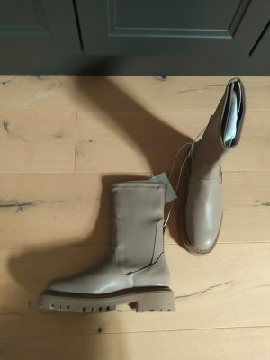 H&M Stiefel Boots taupe greige