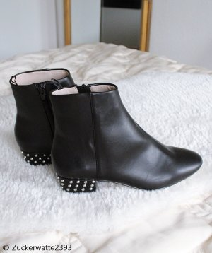 H&M Stiefeletten Boots Schwarz mit Nieten Gr 36/37