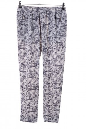 H&M Stoffhose lila-wollweiß Allover-Druck Casual-Look