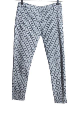 H&M Stoffhose weiß-schwarz Allover-Druck schlichter Stil