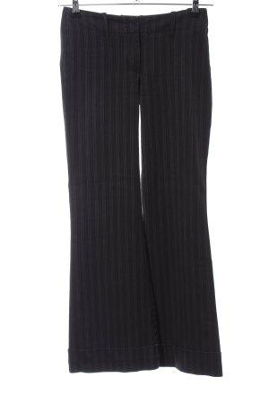 H&M Stoffhose schwarz Streifenmuster klassischer Stil
