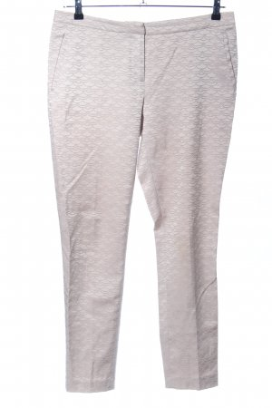 H&M Stoffhose wollweiß Allover-Druck Business-Look