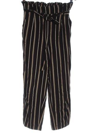 H&M Stoffhose schwarz-wollweiß Streifenmuster Elegant