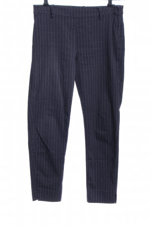 H&M Stoffhose blau Allover-Druck Business-Look