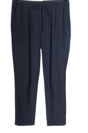 H&M Stoffhose blau-weiß Allover-Druck Casual-Look