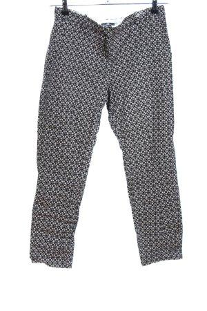 H&M Stoffhose schwarz-weiß Allover-Druck Elegant