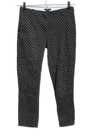 H&M Stoffhose schwarz-weiß abstraktes Muster Casual-Look