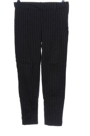H&M Stoffhose schwarz-weiß Allover-Druck Casual-Look