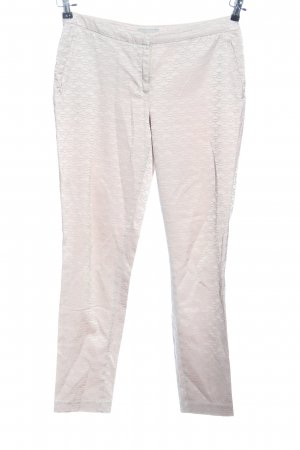 H&M Stoffhose wollweiß Allover-Druck Casual-Look