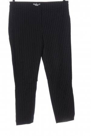 H&M Stoffhose schwarz-weiß Streifenmuster Casual-Look