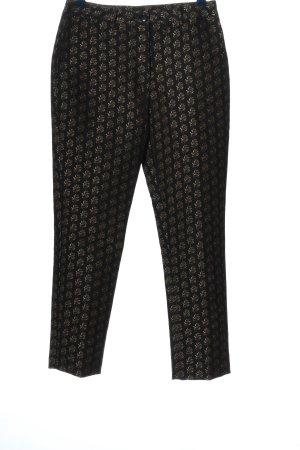 H&M Stoffhose schwarz-silberfarben grafisches Muster Elegant