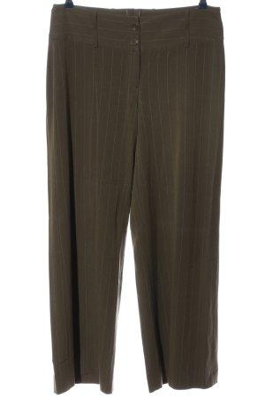 H&M Stoffhose khaki Streifenmuster Casual-Look