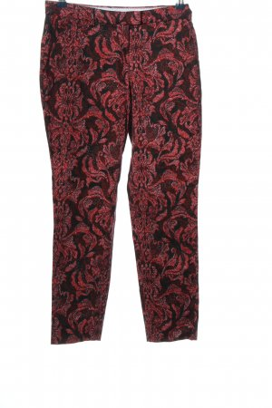 H&M Stoffhose schwarz-pink Mustermix Casual-Look