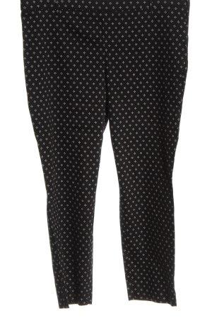 H&M Stoffhose schwarz grafisches Muster Elegant