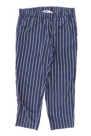 H&M Stoffhose Größe 44 gestreift blau aus Polyester