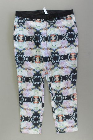 H&M Stoffhose Größe 44 mit Blumenmuster mehrfarbig aus Baumwolle