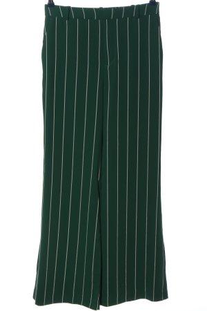 H&M Stoffhose grün-weiß Allover-Druck klassischer Stil