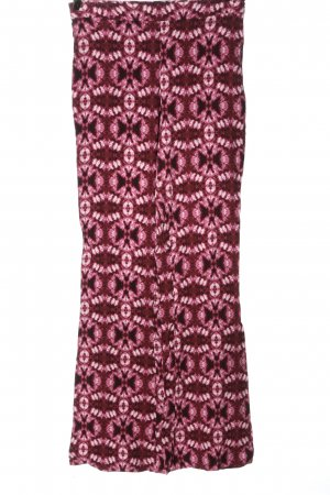 H&M Stoffhose pink Motivdruck Elegant