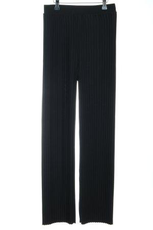 H&M Stoffhose schwarz Streifenmuster Casual-Look