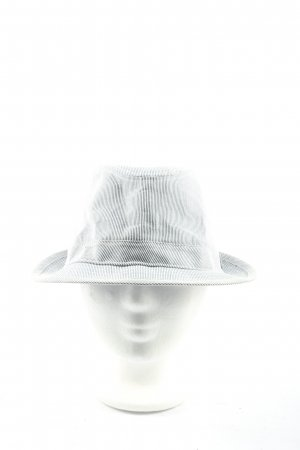 H&M Fabric Hat black-white striped pattern casual look