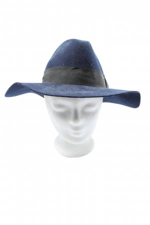 H&M Fabric Hat blue-black casual look