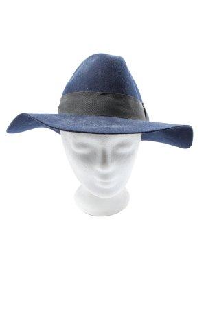 H&M Cappello in tessuto blu-nero stile casual
