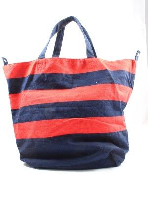 H&M Bolso de tela azul-rojo estampado a rayas look casual