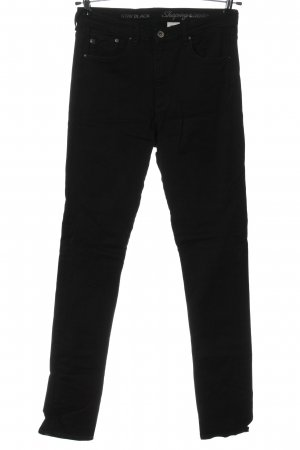 H&M Straight-Leg Jeans schwarz Webmuster Casual-Look