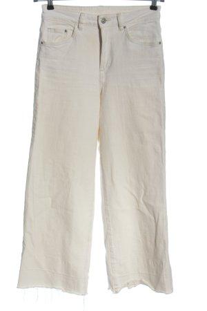 H&M Jeansy z prostymi nogawkami biały Wzór w paski W stylu casual