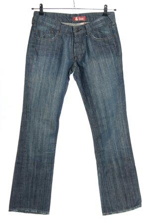 H&M Jeansy z prostymi nogawkami niebieski W stylu casual