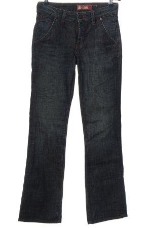 H&M Jeansy z prostymi nogawkami niebieski Melanżowy W stylu casual