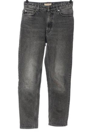 H&M Jeansy z prostymi nogawkami czarny-jasnoszary W stylu casual