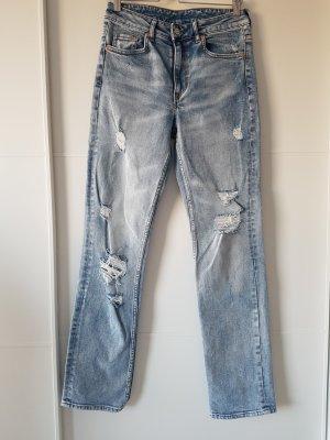 H&M Jeans a vita alta azzurro
