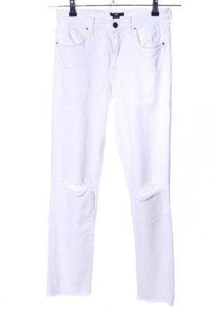 H&M Jeansy z prostymi nogawkami biały W stylu casual