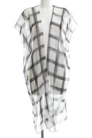 H&M Ropa playera blanco-negro estampado a cuadros estilo sencillo