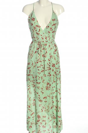 H&M Beach Dress green-red abstract pattern casual look