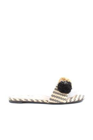 H&M Sandalias de playa blanco puro-negro look casual
