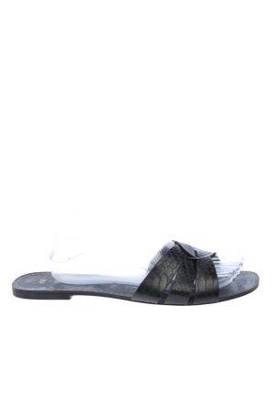 H&M Beach Sandals black animal pattern casual look