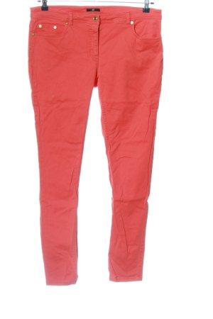 H&M Jeansy ze stretchu czerwony W stylu casual