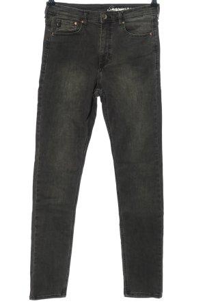 H&M Stretch Jeans hellgrau Casual-Look