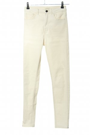 H&M Stretch Jeans wollweiß Casual-Look
