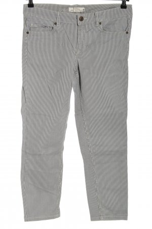 H&M Stretch Jeans blau-weiß Streifenmuster Casual-Look