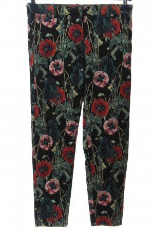 H&M Stretchhose Blumenmuster Casual-Look