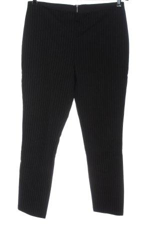 H&M Pantalón elástico negro-blanco estampado a rayas estilo «business»